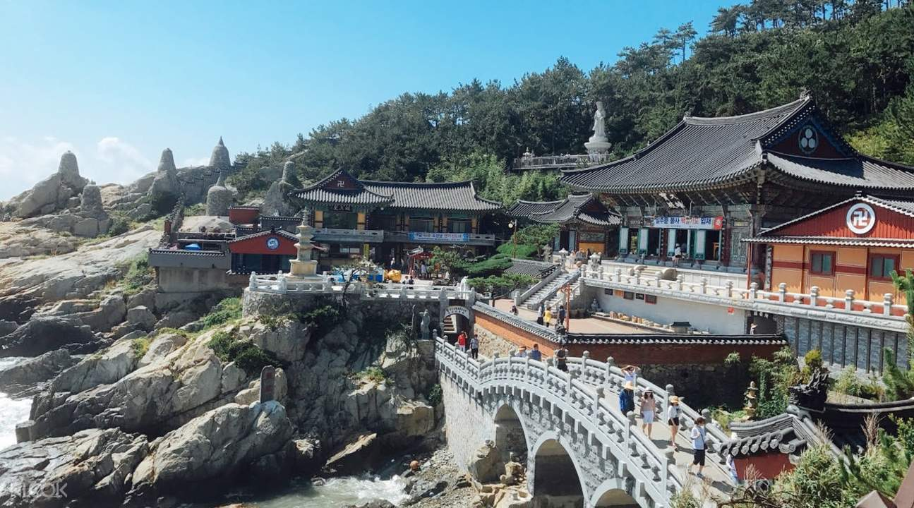 aerial view of Haedong Yonggungsa Temple